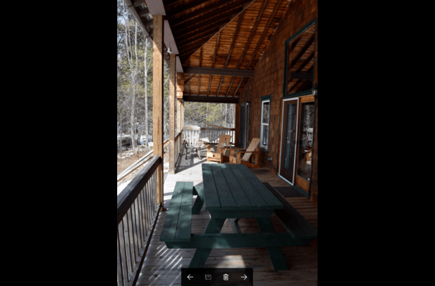 spacious porch