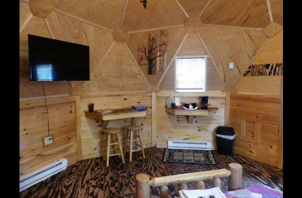 Wolf Dome features WiFi and Flat screen TV