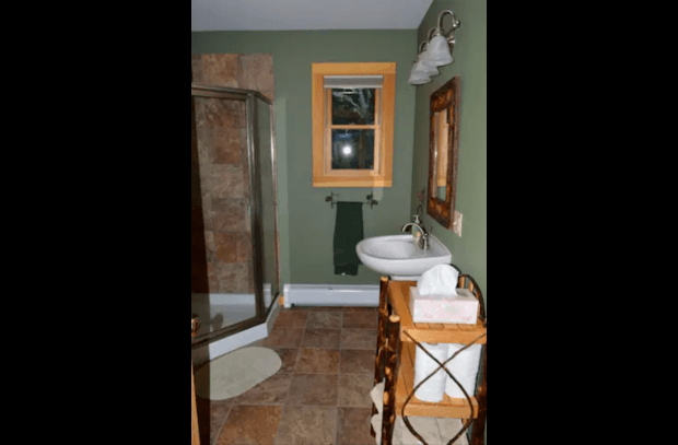 One of Two full Baths with Shower